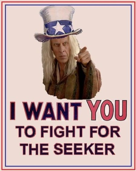Bruce Spence as Zeddicus asking fans to fight for the Seeker