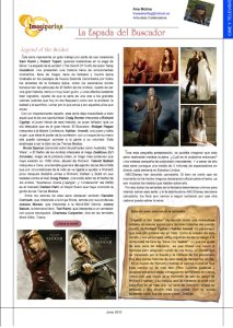 Legend of the Seeker article in Spanish-language Imaginarios magazine.