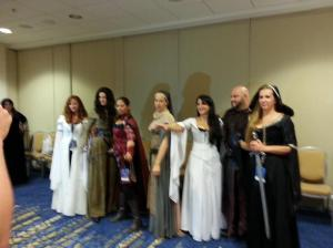 Legend of the Seeker fans wearing costumes at DragonCon 2013.