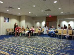 Crowd shot from the Legend of the Seeker meetup at DragonCon 2013.