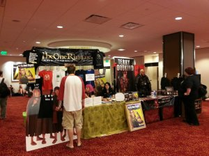 J.R.R. Tolkien and Terry Goodkind fan booths at DragonCon 2013.