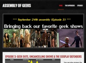 Assembly of Geeks podcast Website